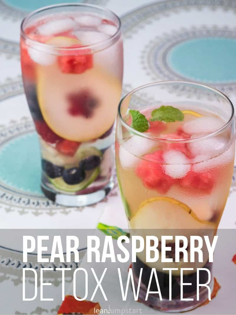 Pear berry detox water: a healthy, belly slimming drink