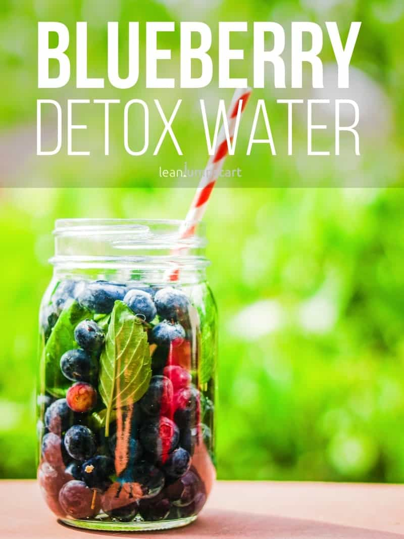 blueberry detox water with rich anti-oxidant properties