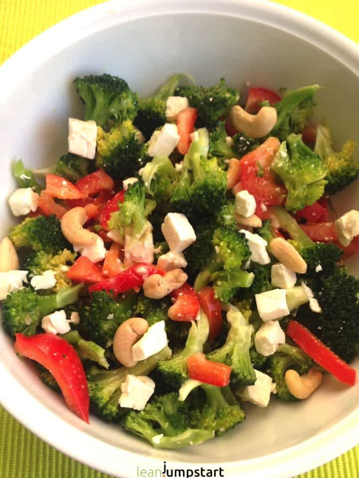 broccoli red pepper feta salad