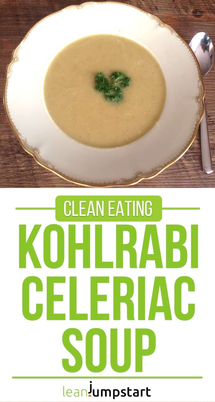 kohlrabi celeriac soup
