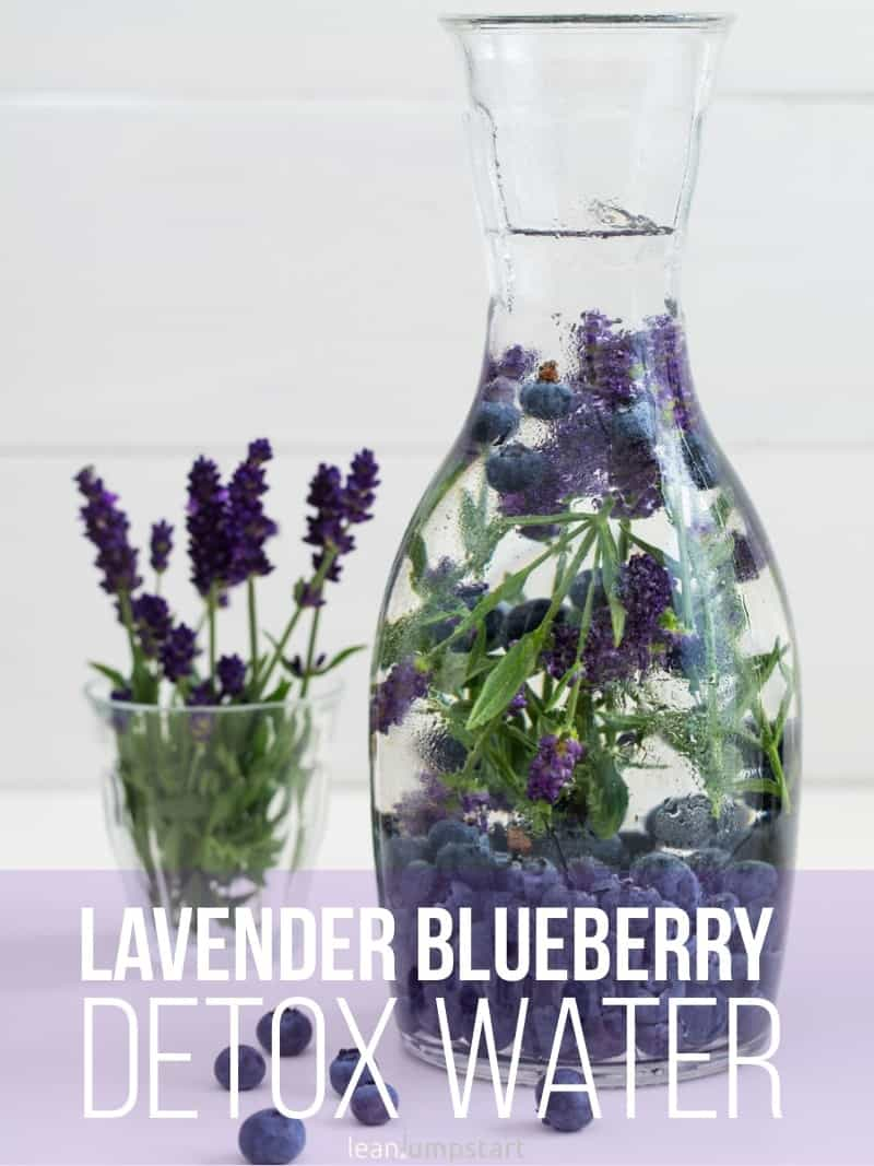 avender blueberry detox water