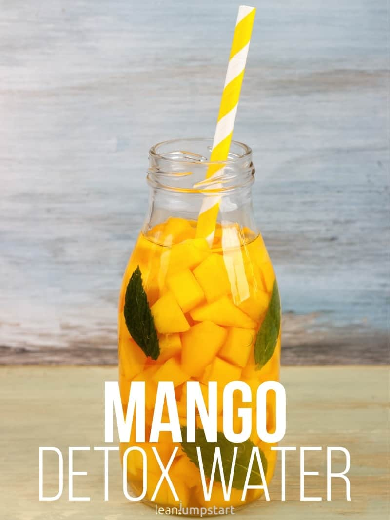 mango infused water for a glowing complexion