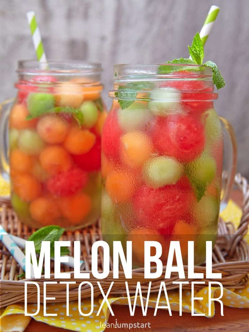 melon ball infused drink: a clean party beverage