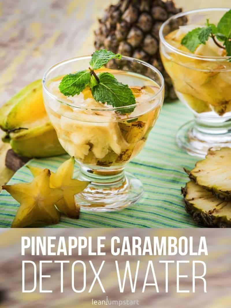 pineapple starfruit water: an exotic detox drink
