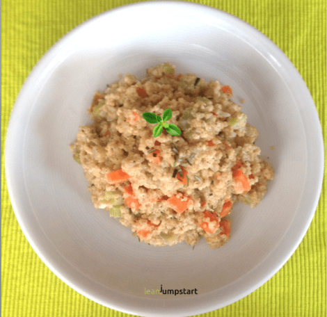 Quinotto: quinoa risotto recipe with celery and carrots – quick and easy