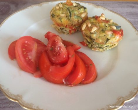 Healthy egg muffins with vegetables: light clean eating lunch or breakfast idea