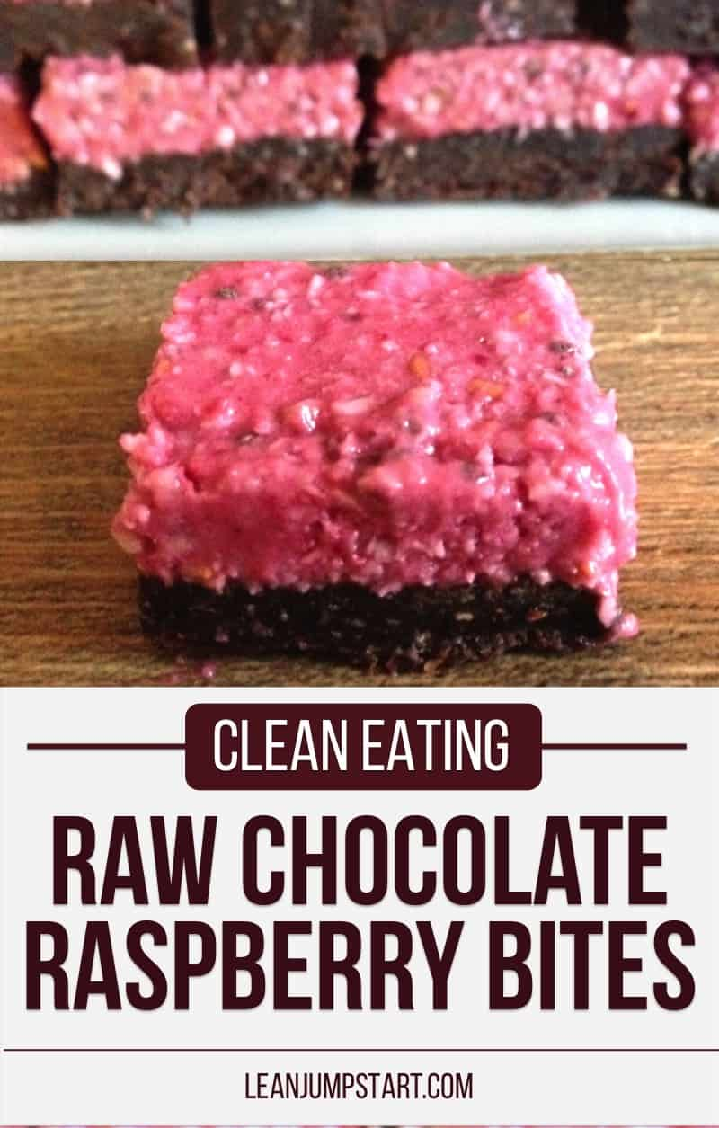 raw chocolate raspberry bites: healthy and delicious
