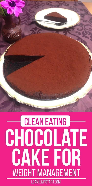 clean eating chocolate cake