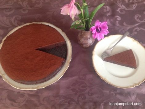 Clean eating chocolate cake: flourless, skinny and easy