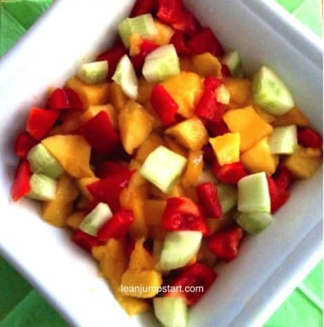 clean eating mango salad