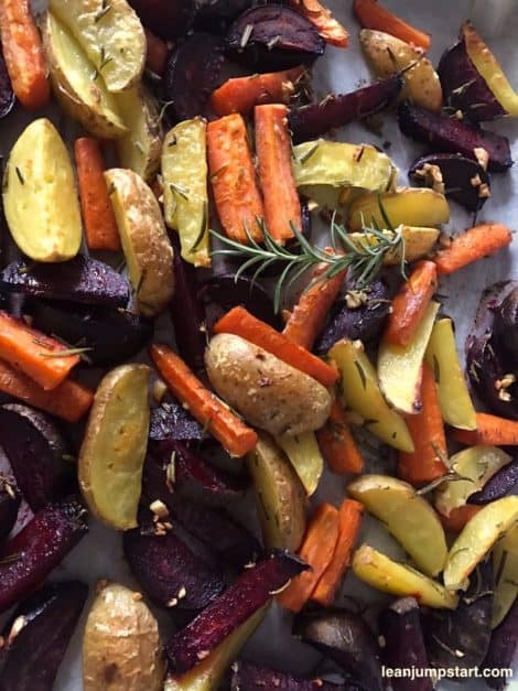 sheet pan potatoes carrots beets