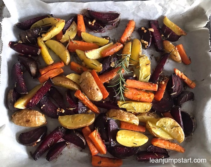 sheet pan vegetables: clean and easy