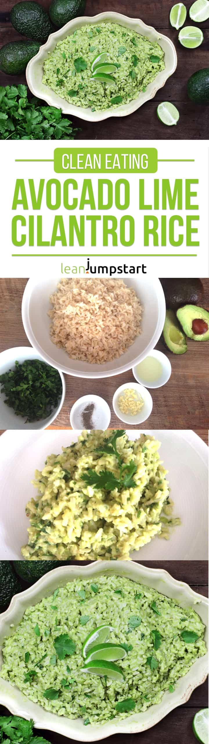 cilantro lime rice with avocado: a yummy and easy clean eating dish