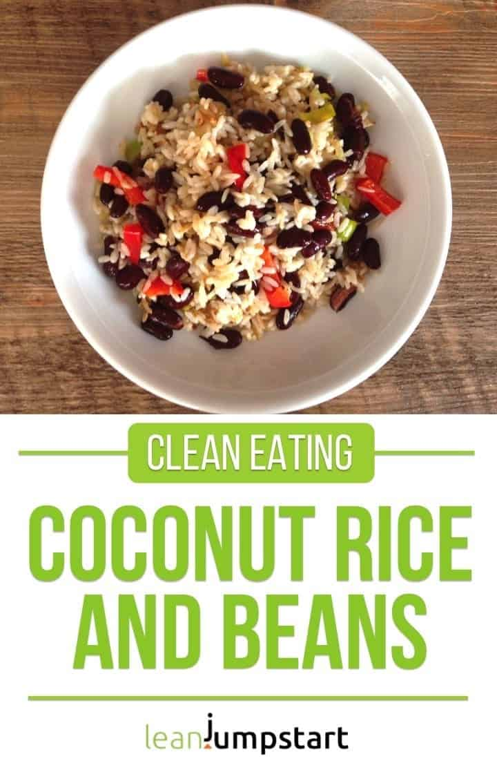 coconut rice with beans: an easy clean eating dish