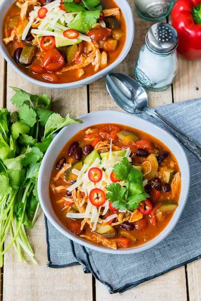 30 Minute Chicken Tortilla Soup CleanFoodCrush