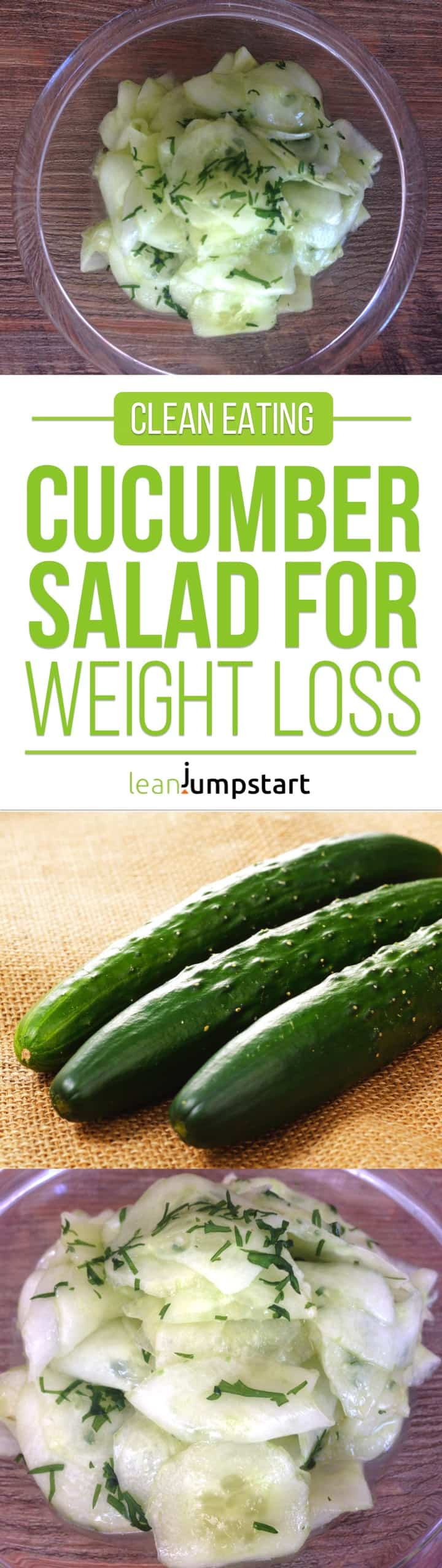 easy cucumber salad: simple and lean clean eating salad with vinegar dressing