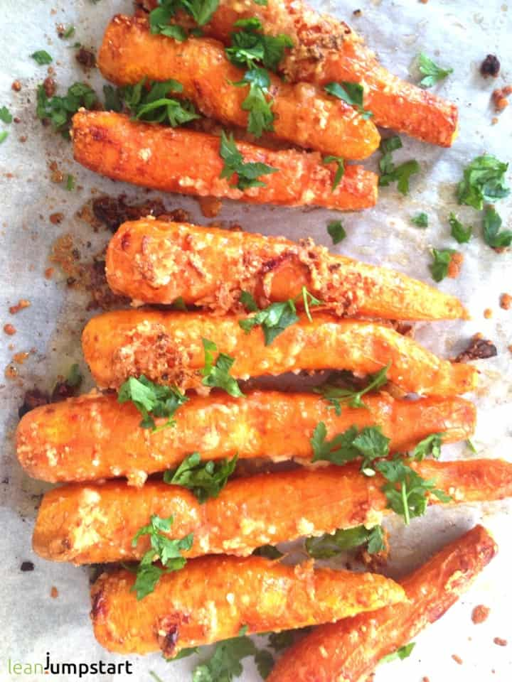 parmesan roasted carrots snack