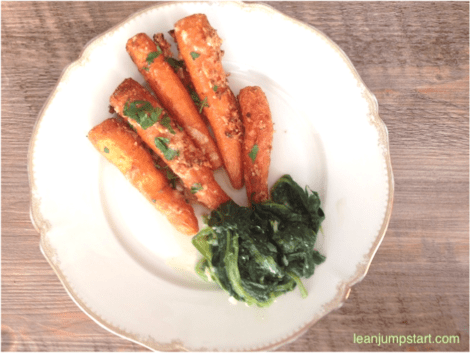 Parmesan Roasted Carrots – Spicy clean eating snack for managing weight