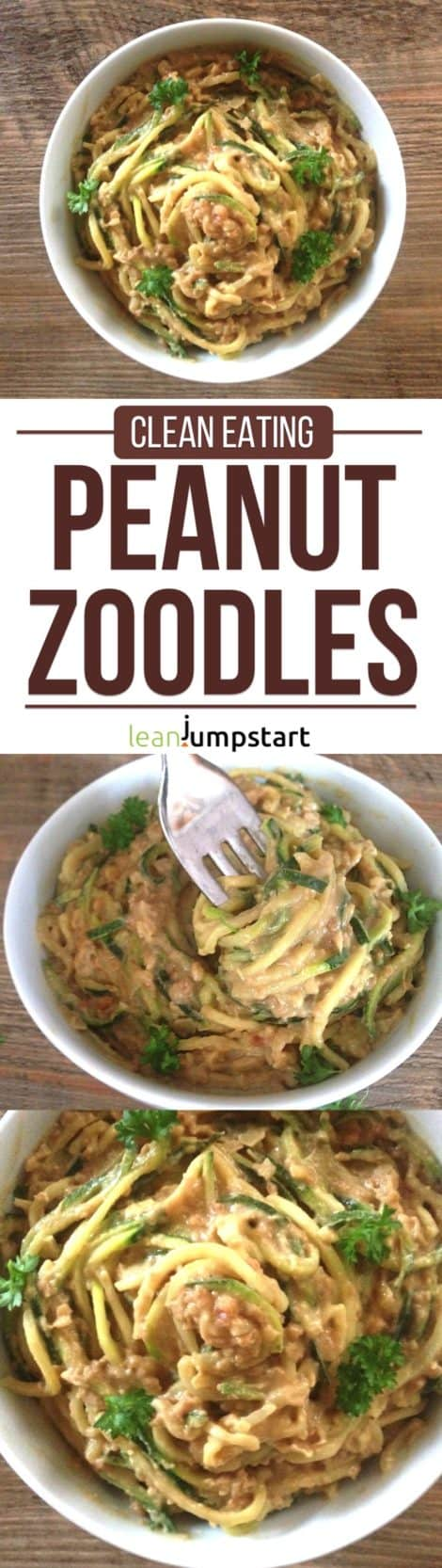 Peanut Butter Noodles: mouth-watering & easy spiralized zucchini pasta