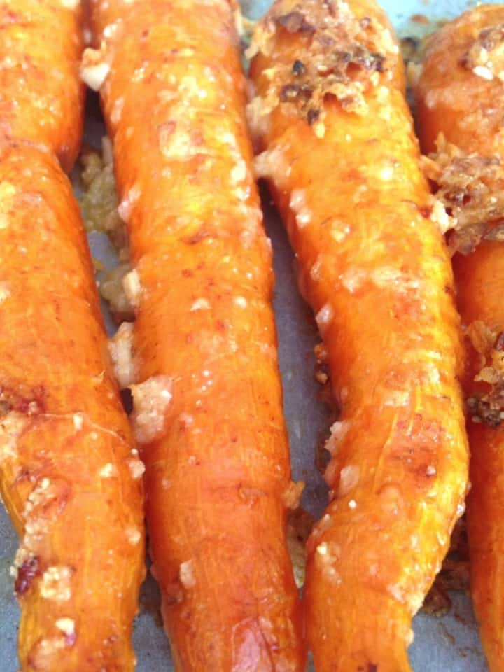 roasted carrots with parmesan