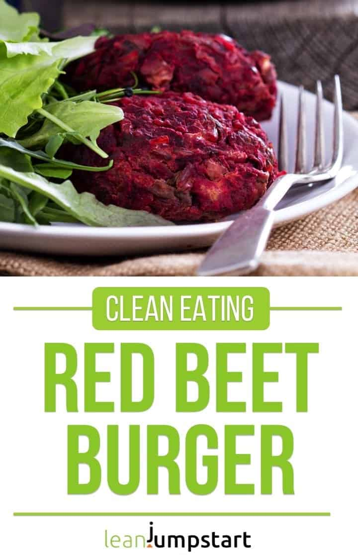 red beet burger: yummy beetroot dish even for vegans