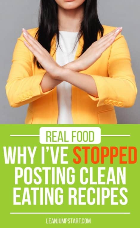 Real Food & Stress: Why I've stopped posting clean eating recipes