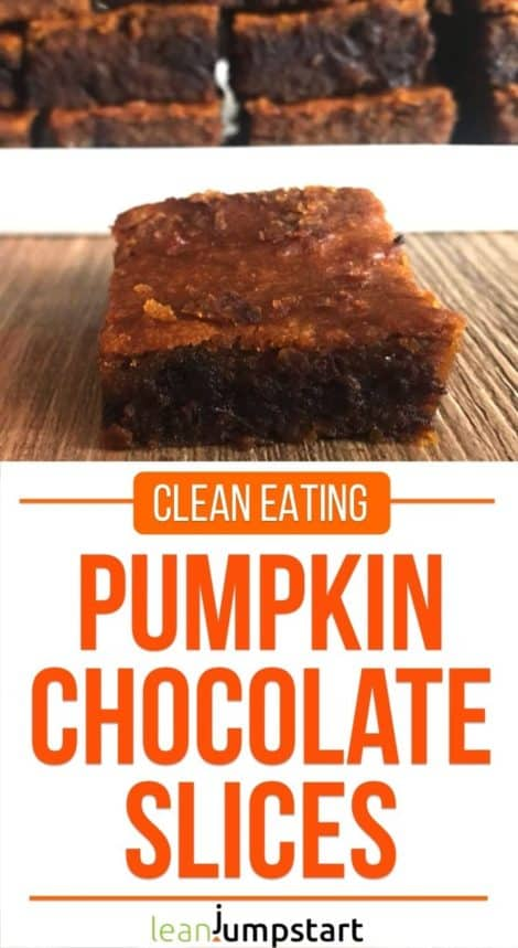 clean eating pumpkin chocolate slices: juicy and filling treat for weight management