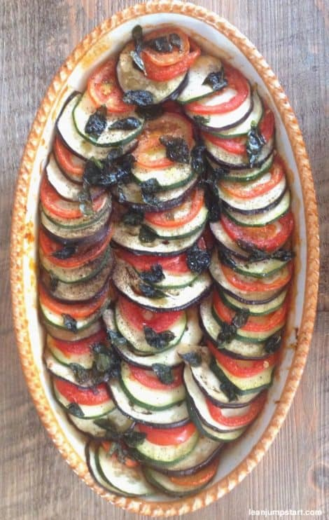 ratatouille with sliced vegetables