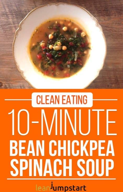 Red bean soup with chickpea, spinach & Parmesan – Ready in 10 minutes