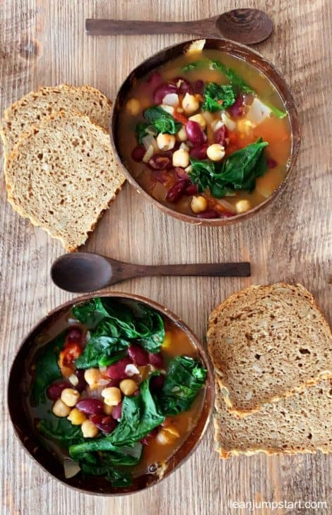 RED BEAN SOUP WITH SPINACH