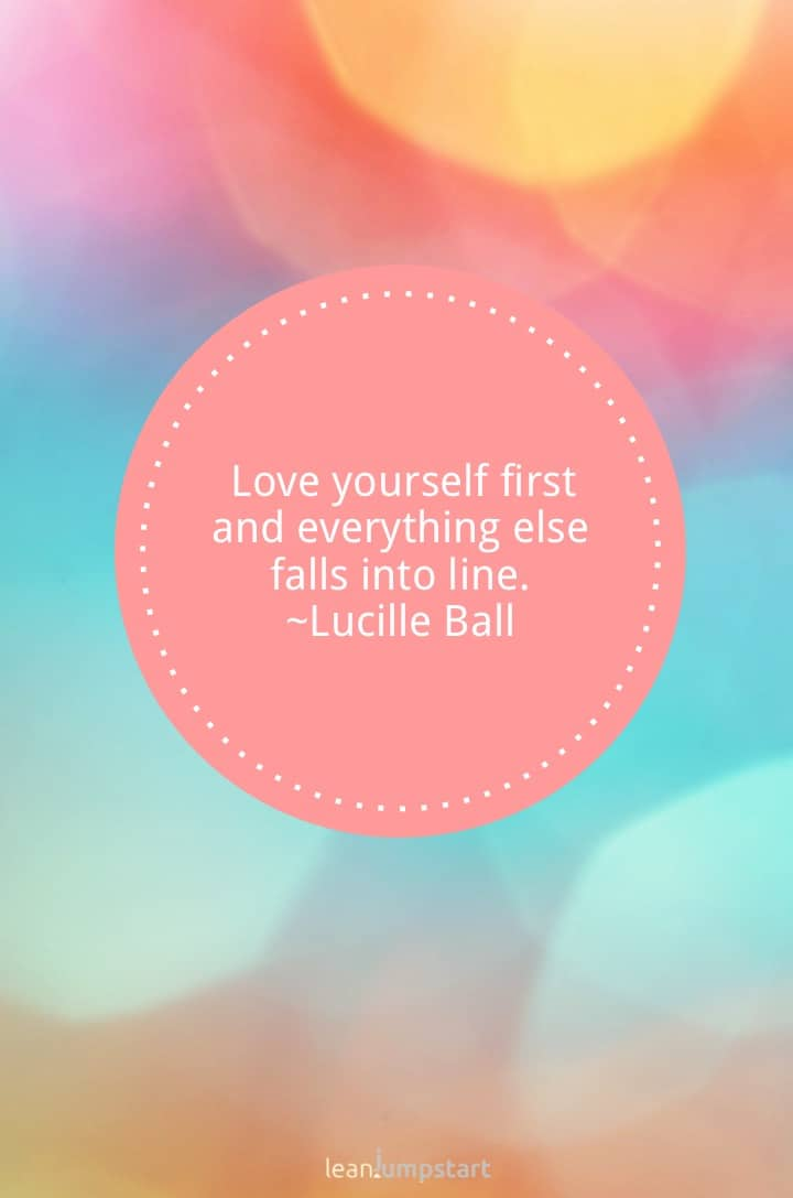 Love yourself first quote