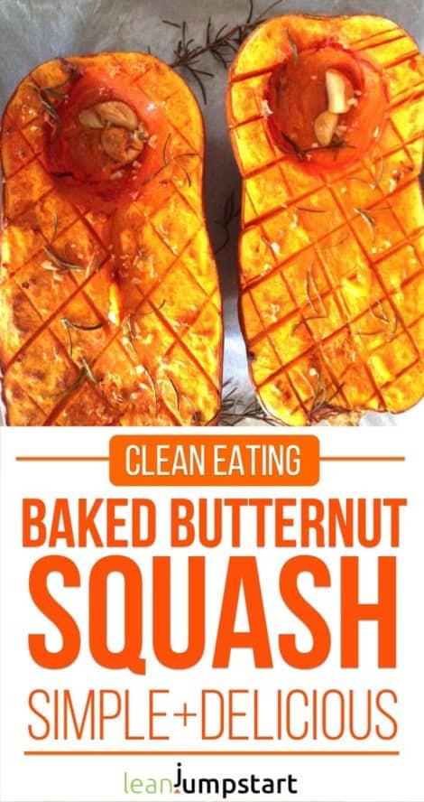 baked butternut squash
