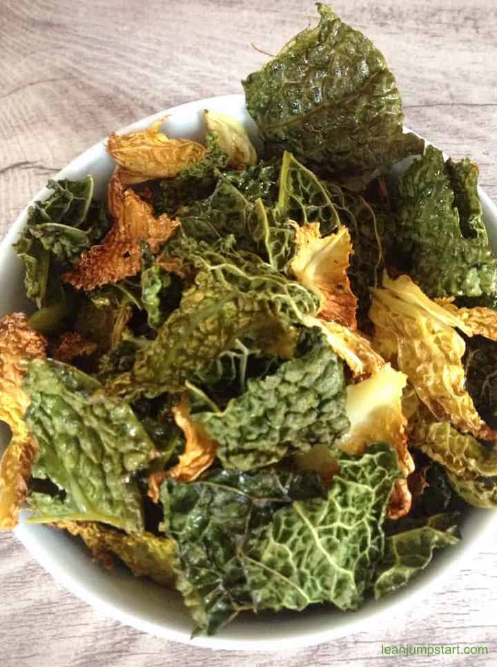 Savoy Cabbage Chips Super Tasty Crispy Easy Clean Eating Snack