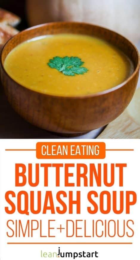 clean eating butternut squash soup #squash #thanksgiving #eatclean