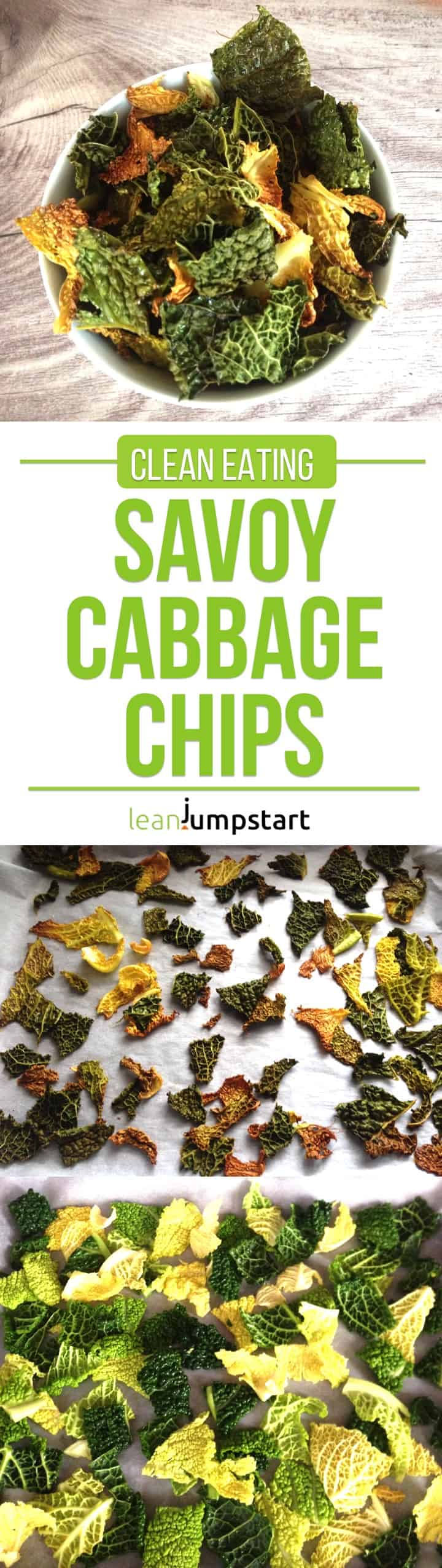 Savoy Cabbage Chips: Super Tasty, Crispy & Easy Clean Eating Snack #savoycabbage #cabbagechips #eatclean