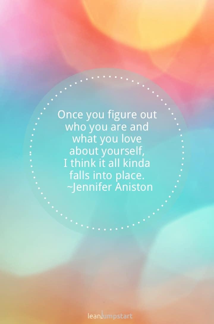 self love quote jennifer aniston