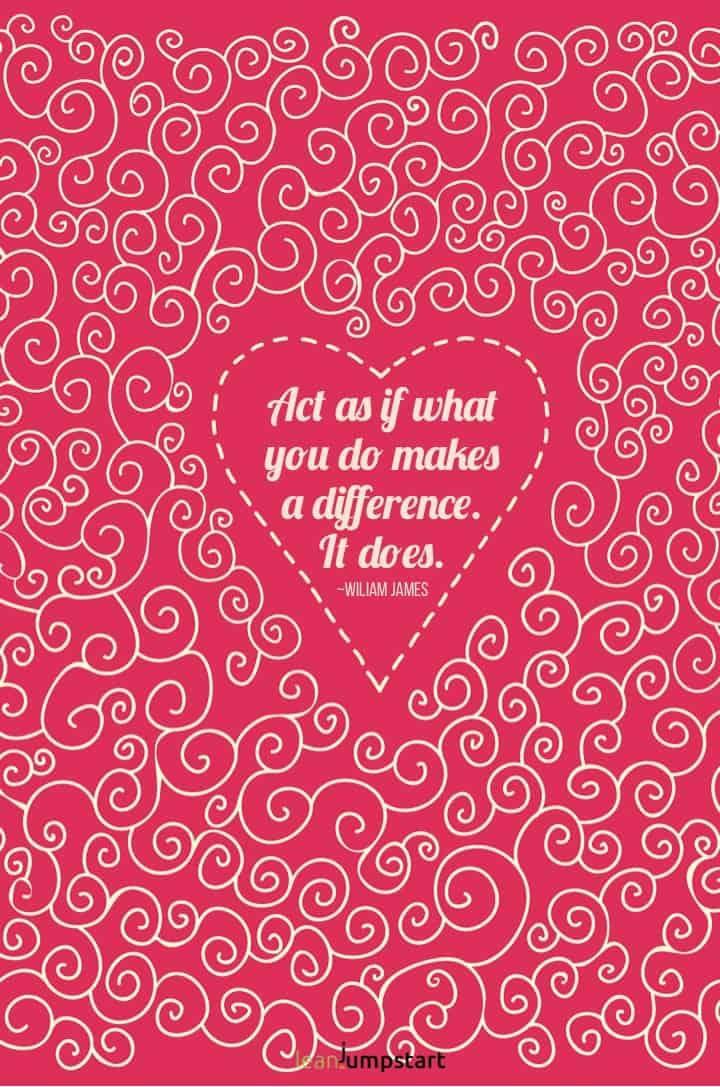 self love quote william james