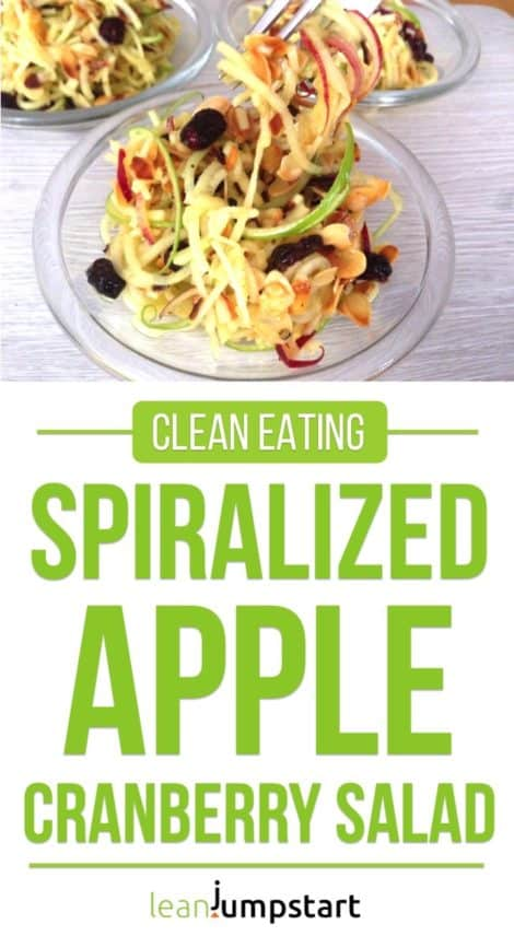 Spiralized apple cranberry salad: Easy 10-minute recipe