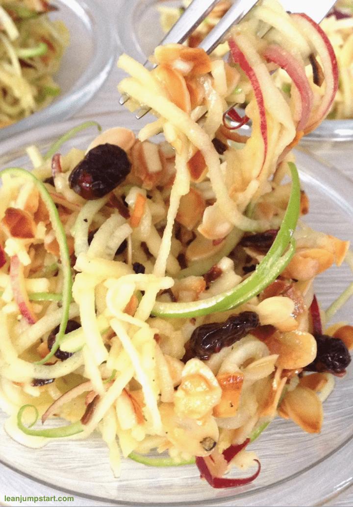 spiralized apple cranberry salad recipe