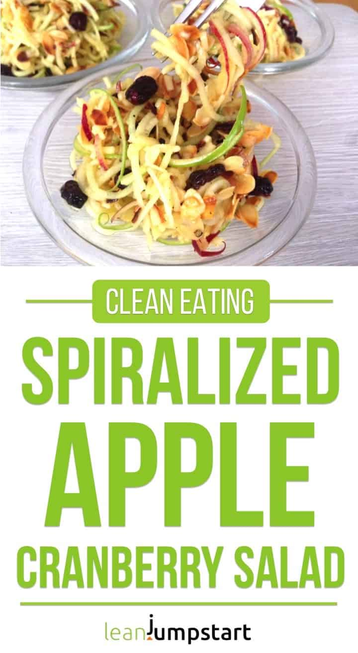 spiralized apple cranberry salad