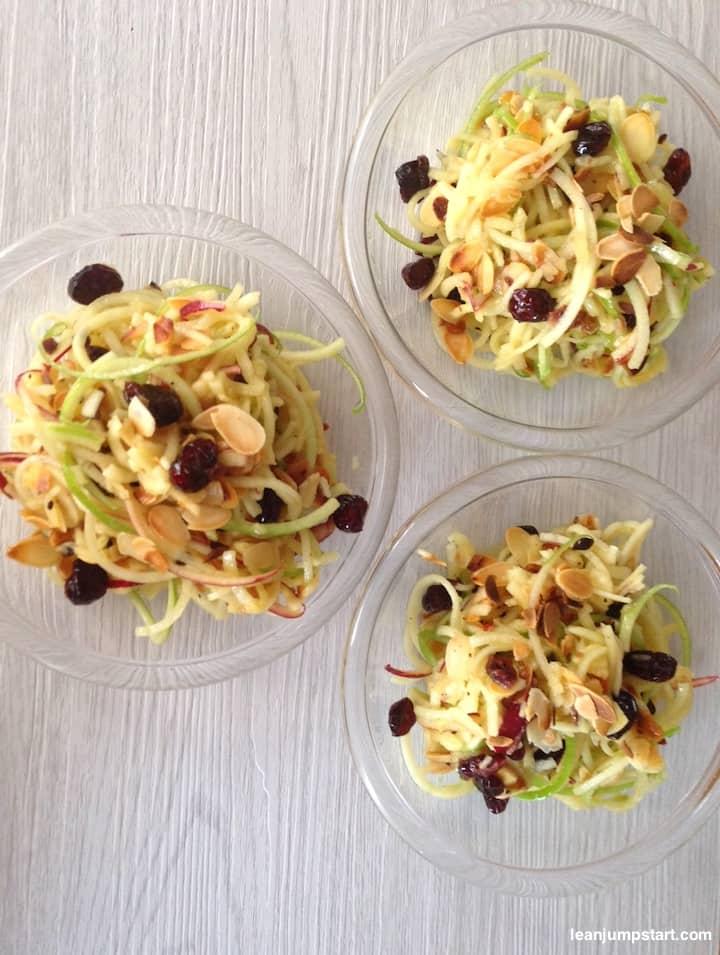 spiralized apple salad