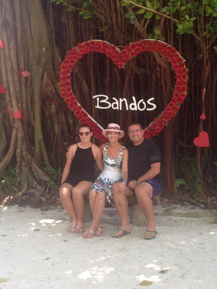 family photo on Bandos