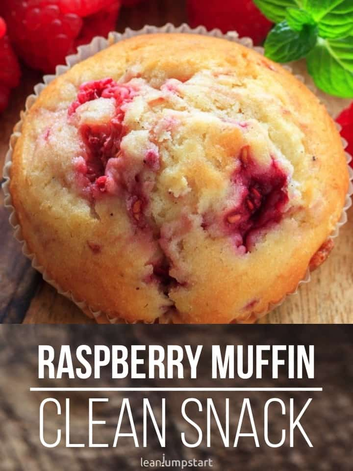 clean eating raspberry muffin