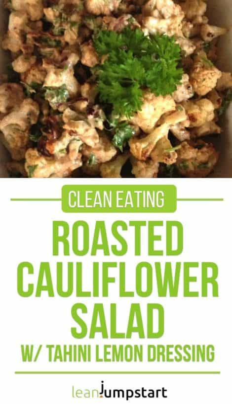 clean eating roasted cauliflower salad