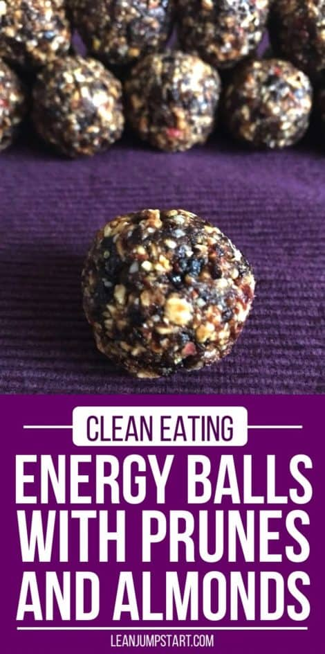 Energy Balls Recipe with dried plums and almonds – a quick clean eating snack