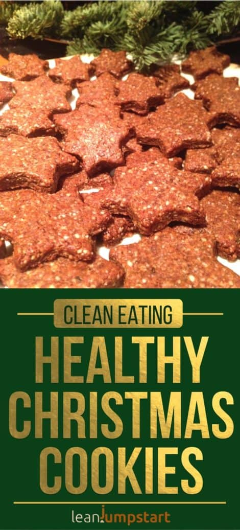 Healthy Christmas Cookies: Awesome clean eating cinnamon stars
