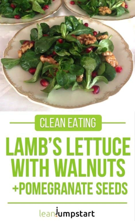 Lamb's lettuce salad with walnuts and pomegranate seeds – A festive mache creation