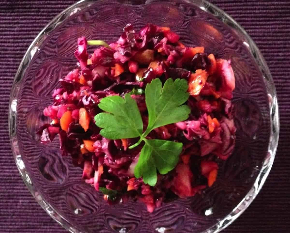 Clean Eating Red Cabbage Salad Recipe W Apples Quick Amp Easy