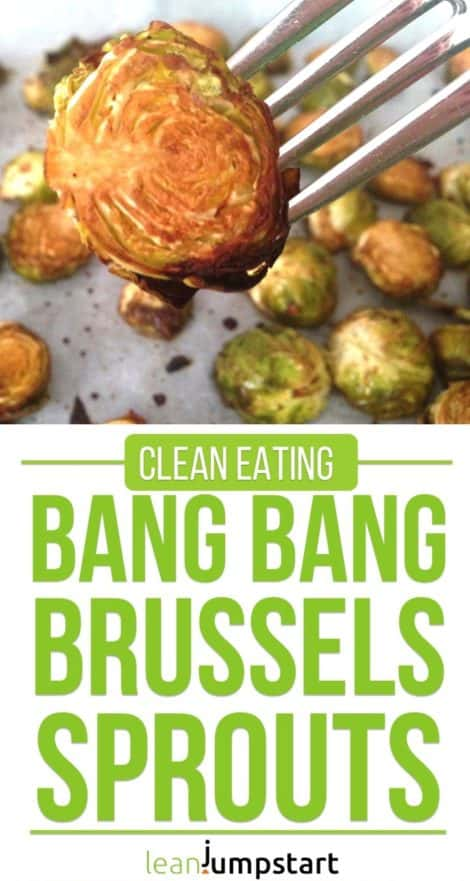 Roasted brussels sprouts recipe with an irresistible bang bang marinade