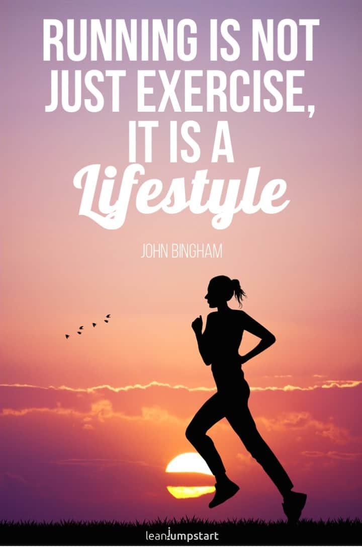 running lifestyle quote